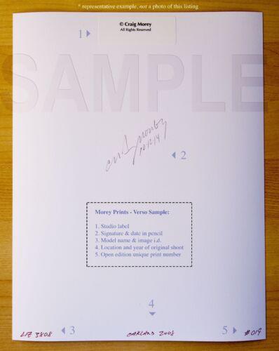 B/&W Fine Art Nude Model hand-signed 8.5x11 photo by Craig Morey Emmy 9572BW
