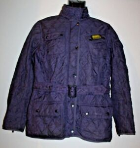 Women's Barbour Purple Diamond Check Quilted Down Belted ...