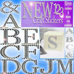 LUXURY-DIAMANTE-GLITTER-LETTERS-CRAFT-STICKERS-5cm-Large-Strong-Adhesive-Backed