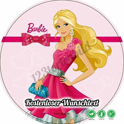 Tortenaufleger Geburtstag Tortenbild Zuckerbild Oblaten Barbie