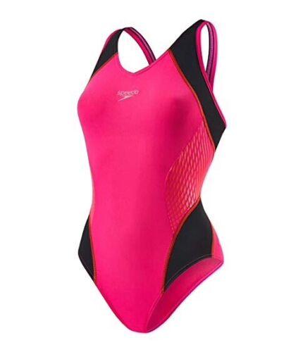 """Buy £13 Fit Pink Speedo ladies Splice Muscleback RRP £32 Snug 12//34"""" BNWT"""