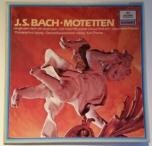 Bach Motetten Gewandhausorchester Leipzig Kurt Thomas Archiv Stereo 2547 009