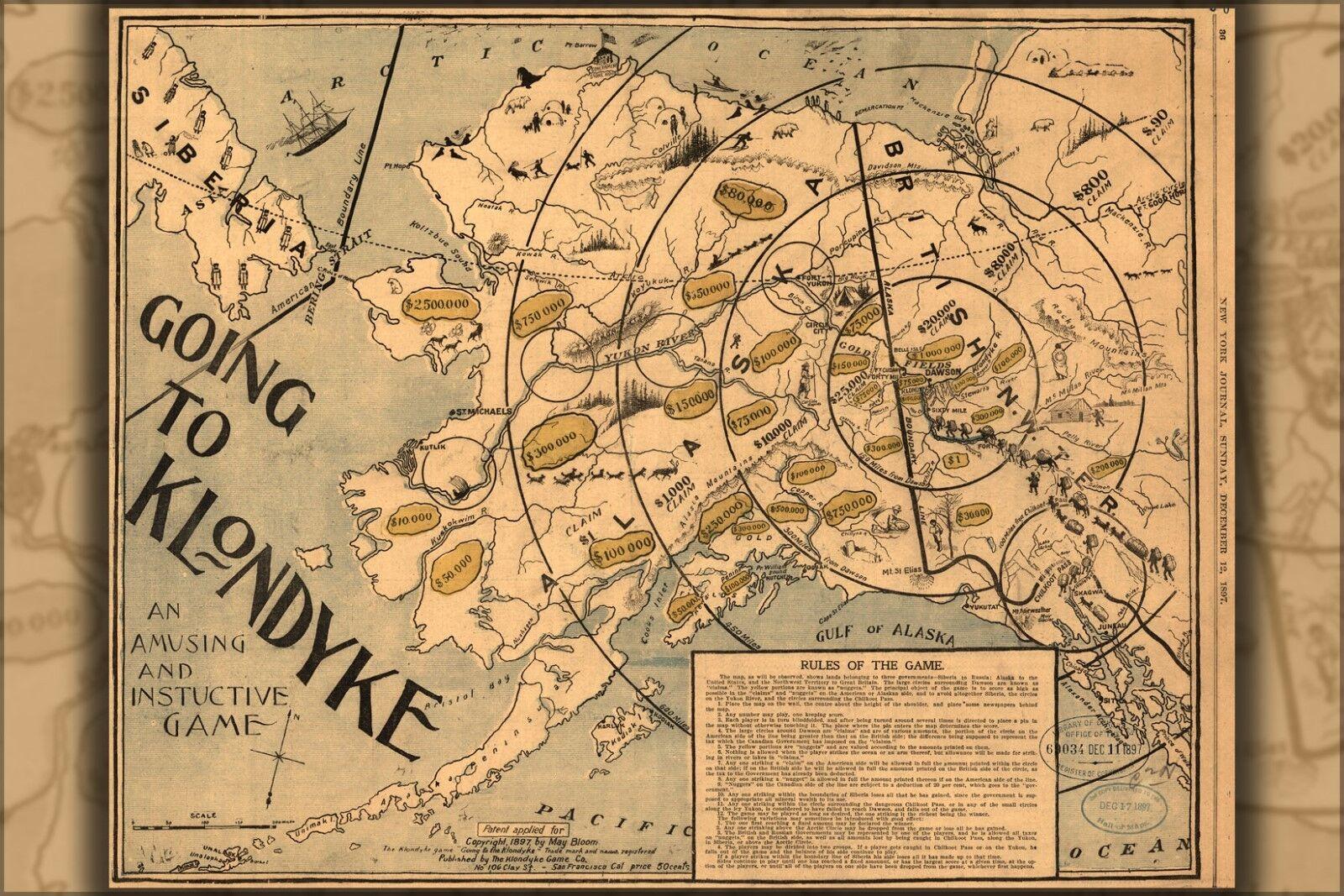 Poster, Molte Misure; Going To Klondyke 1897