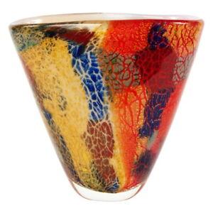 "NEW Luxury Lane 8"" Tall Hand Blown Thick Art Glass Vase"