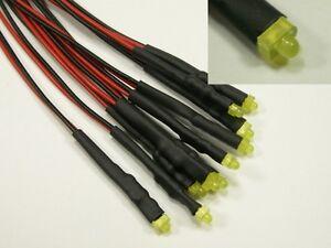 S612-5-piece-LED-1-8mm-jaune-Avec-Cable-Pour-12-19V-pret-cable-Mini-LEDs