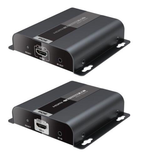 UP to 120m,LKV383POE HDbitT POE HDMI over IP CAT6 Extender 1080P,IR pass-back