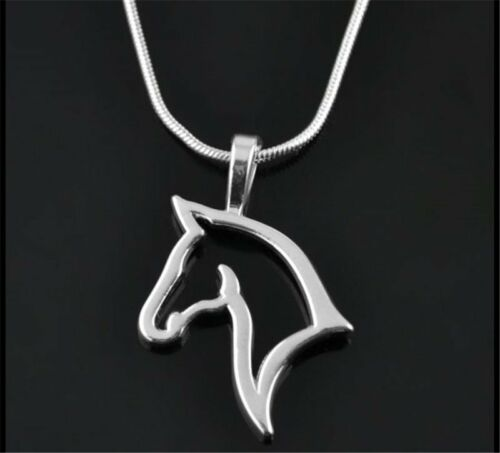 Handmade Silver Tone Animal Horse Heart Dog Footprint Necklace Pendant Jewelry