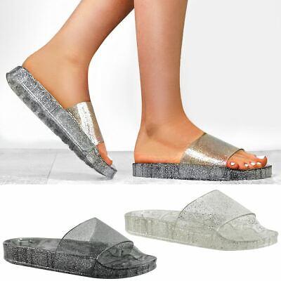 Women/'s Slip On Flats Sliders Ladies Summer Flip Flops Slipper Mules Sandals 3-8