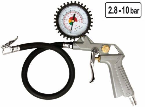 Druckluft Reifenfüller Reifenmesser Reifenfüllgerät Luftpistole mit Manometer