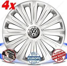 SET 4 BORCHIE COPPE RUOTA COPRI CERCHI TREND SILVER 15 VW POLO CLASSIC