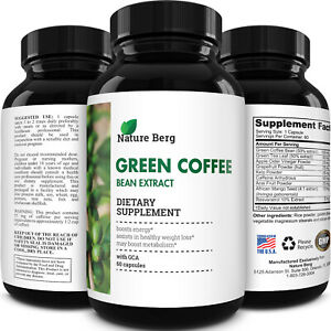 Green Coffee Bean Extract 800mg Weight Loss Antioxidant Appetite Suppressant