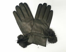 One Size Tom Franks Womens Black Quilted Faux Fur Winter Ski Gloves 28032