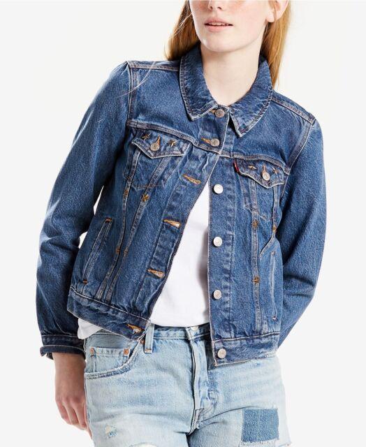 055b4b719b7ce1 Levi's Levi Jeans Women's Trucker Denim Jacket Size Large for sale ...
