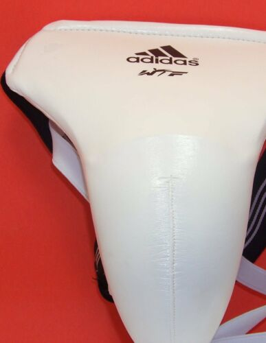 Adidas White WTF groin protector Male size Large