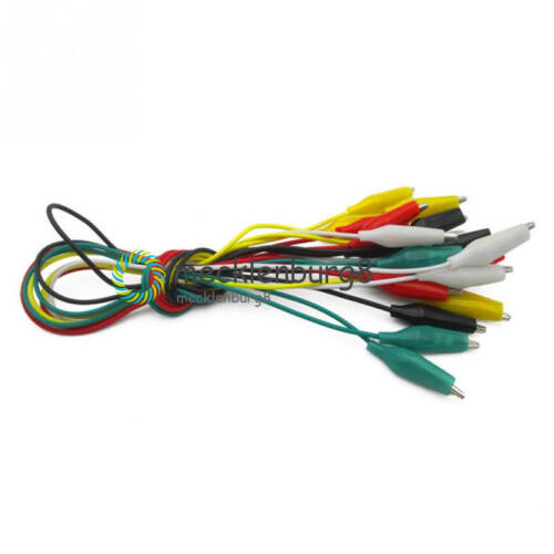10Stks Alligator Test Leads Crocodile Clip Electrical Jumper Wire Cable Clamp
