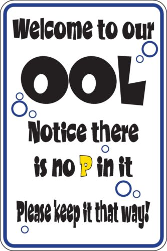 Welcome to our OOL notice thers no P in it Funny Novelty Stickers Lrg SM1-165