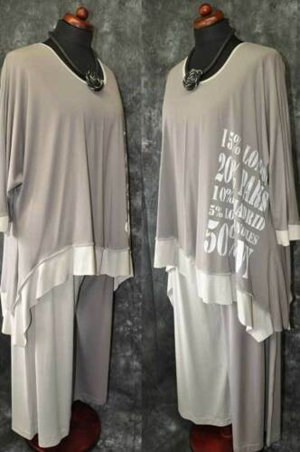 Big Stampa Cappuccino mastice welle Bogen Jersey A Strati pulli Look aqIFPZwT