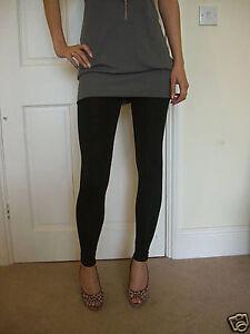 Ankle-Length-Leggings-Viscose-Stretch-Women-BLACK-SIZE-8-10-12-14-16-18-20-22-24
