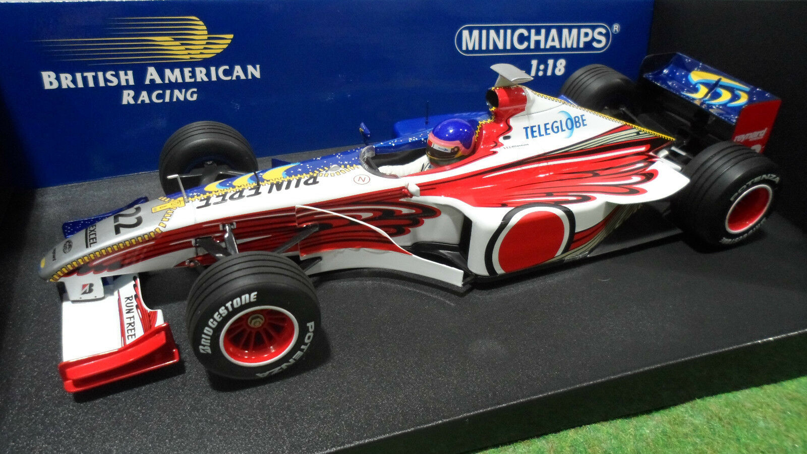 F1 BAR 01 SUPERTEC 1999 VILLENEUVE   22 formule 1 18 MINICHAMPS 180990022 voiture  contre authentique