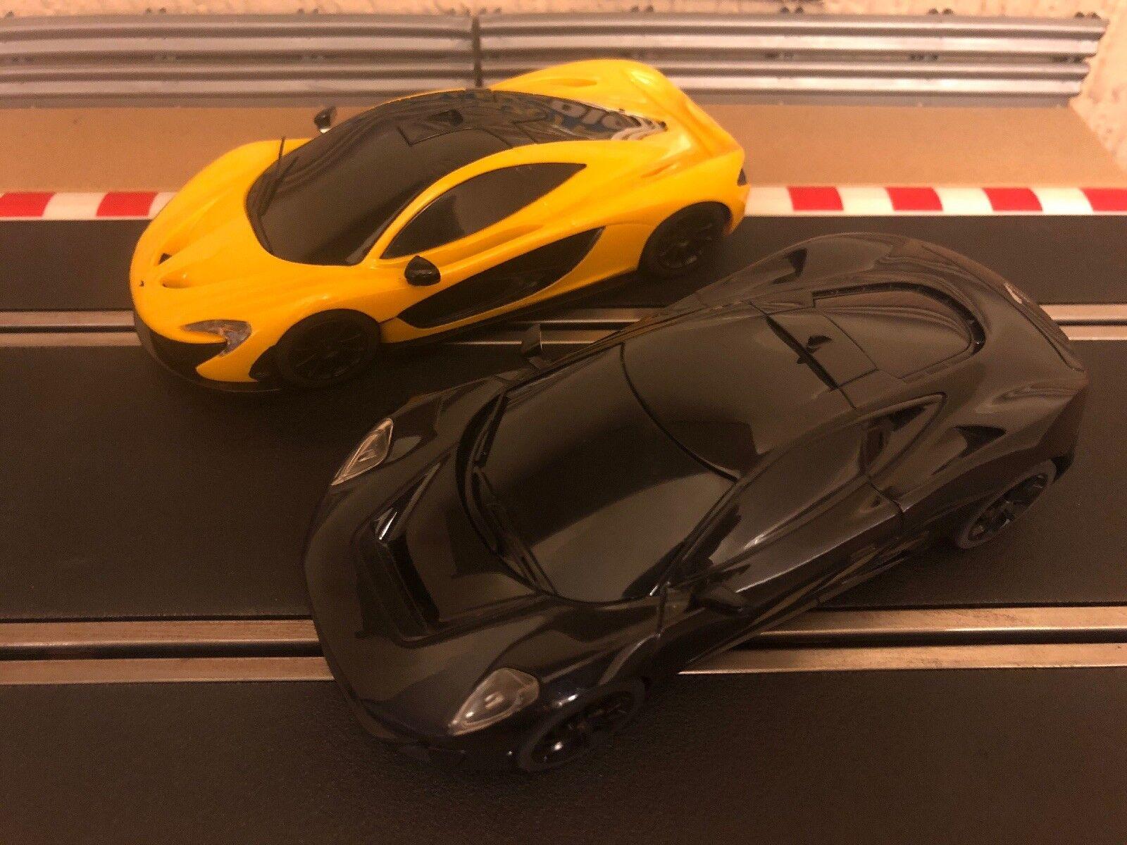 Scalextric Digital McLaren P1 & Jaguar C-X75 nuevo, sin usar completamente reparado