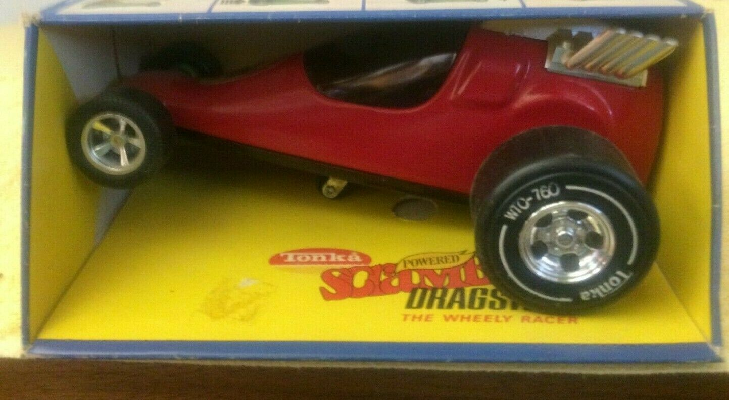 TONKA 1974 SCRAMBLER DRAGESTER  RED MINT IN BOX MOUND MINN NIB
