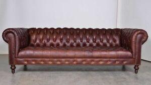 XXL Big Sofa Couch Chesterfield 240cm Polster Sofas 4 Sitzer Leder ...