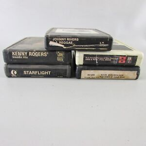 Lot-of-5-soft-rock-8-Track-Tapes-Rivers-Rogers-Starflight-Coolidge-Elton