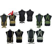 Tactical Padded Molle Waist Belt Military Battle Combat Duty Belt W/suspender