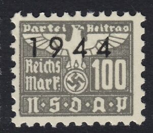 Stamp-Germany-Revenue-WWII-1944-3rd-Reich-War-Era-Party-Dues-0-100-MNH