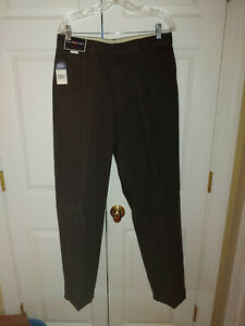 New Men Polo Ralph Lauren Andrew Pleated Front Brown Cuffed Pants Size 34/34