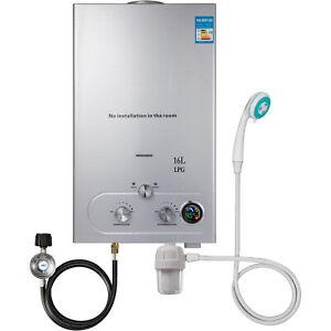 16L Calentador de Agua a Gas 32 KW Propano Butano Gas Botella