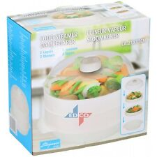 DELUXE MICROWAVE 2 TIER STEAMER COOKER FOR VEGETABLE RICE PASTA COOKING