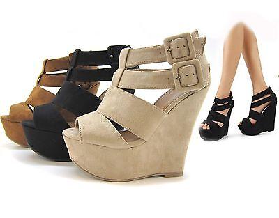 Women Fashion Sandals Dress High Heels Shoes Platforms Wedges Strappy Summer HOT
