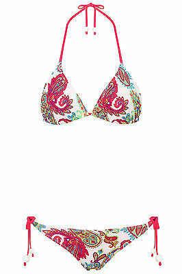 Women's Clothing Swimwear Adroit Weiß & Rosa Paisley Süß Bikini Satz Dreieck & Krawatte Seiten Größen 8-10-12 Ideal Gift For All Occasions