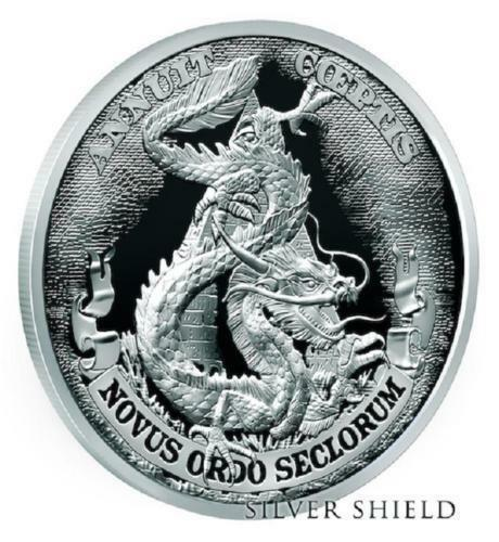 """#3 in /""""Death of the Dollar/"""" Series 2017 Silver Shield DOLLAR DRAGON Proof"""