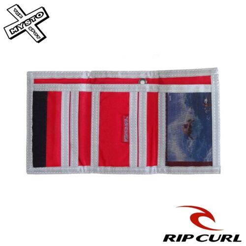 """RIP Curl /""""Boost/"""" Portafoglio Tri Fold Blu Verde Rosso Tela Surf la ricerca NUOVO CON ETICHETTA"""