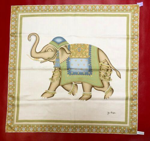 "Jim Thompson 100% Thai Silk Elephant Scarf 32"" X 3"