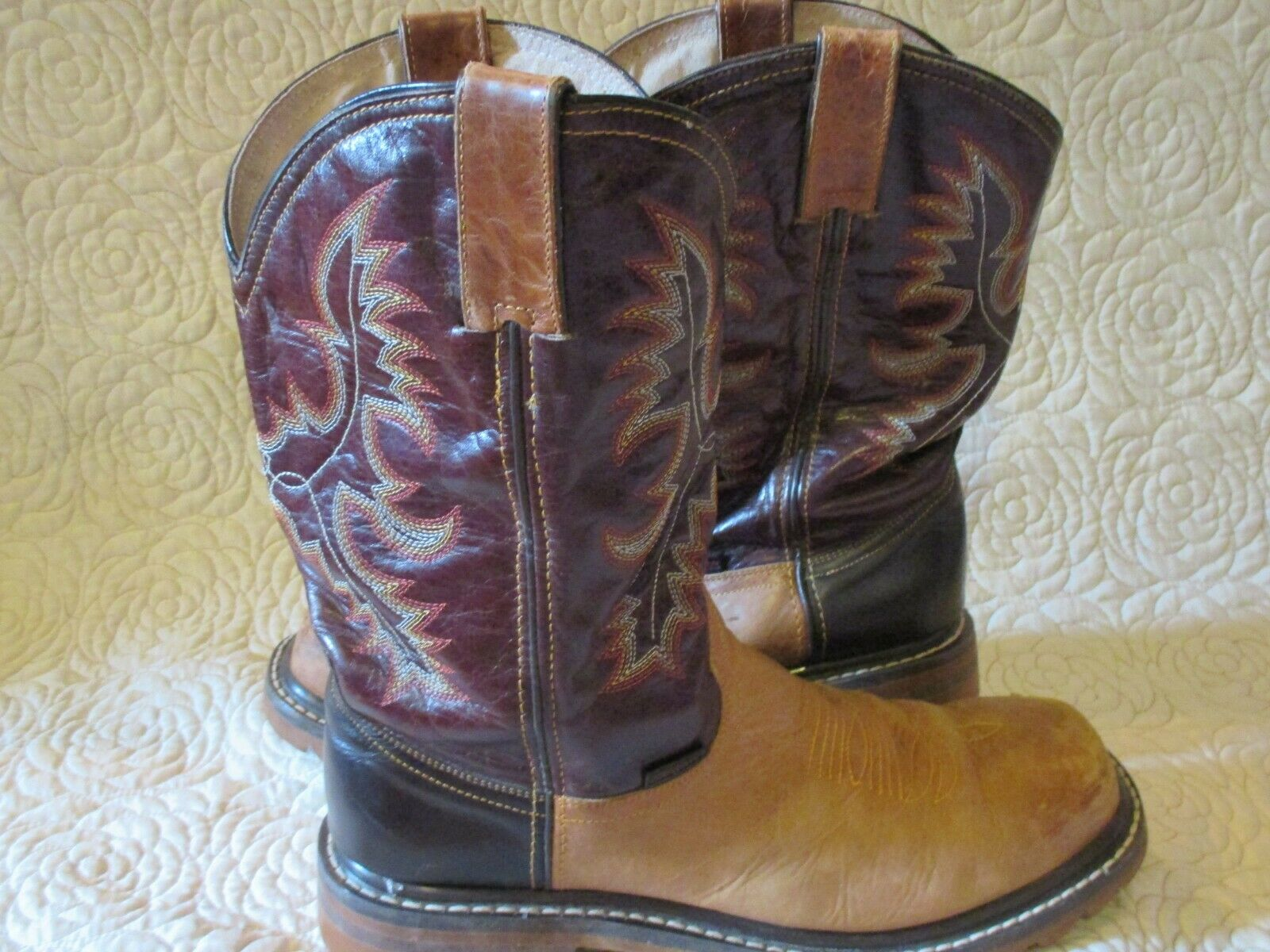 INNOVATION botas de vaquero occidental de cuero