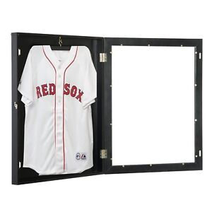 HOMCOM-Wood-Jersey-Display-Case-Frame-Shadow-Box-Football-Baseball