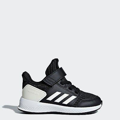 WHITE Adidas AH2612 toddler RAPIDARUN KNIT I baby shoes kids PINK