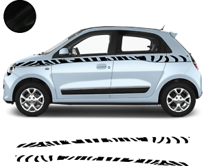 Renault-Twingo-Bandes-Zebres-Stickers-adhesifs-decoration-couleur-au-choix