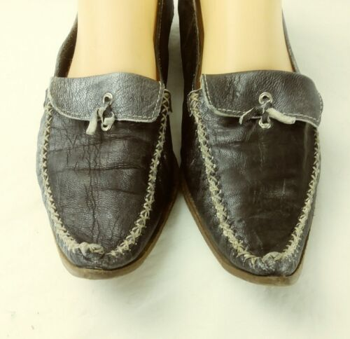 40 Pointy Womens Us Loafers Gray Shoes Leather Eu 676 Priori 9 Metallic BSFxZnF