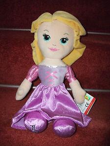 "UFFICIALE DISNEY PRINCESS RAPUNZEL soft toy plush bambola ragdoll 12"" ""Tall TAG NUOVO"