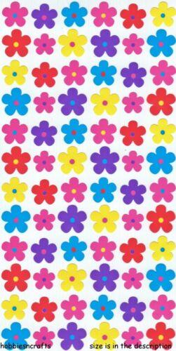 MINI FLOWERS FLOWER FLORAL 72 STICKERS EK SUCCESS STICKO STICKERS