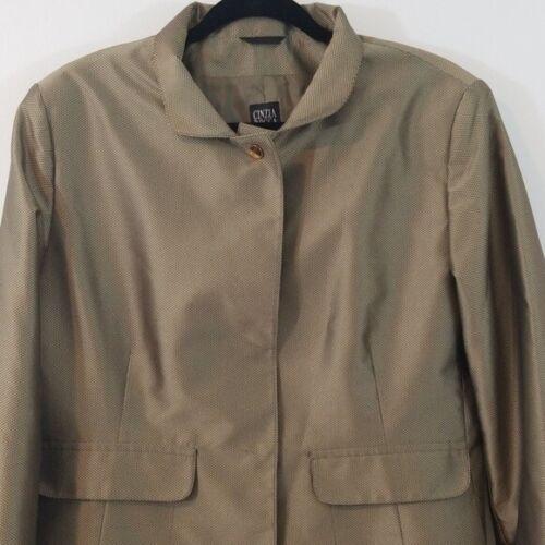 Cinzia Rocca Green Trench Coat size 14