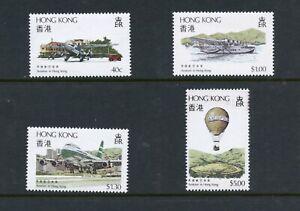C912 Hong Kong 1984 aviation airplanes balloons 4v. MNH