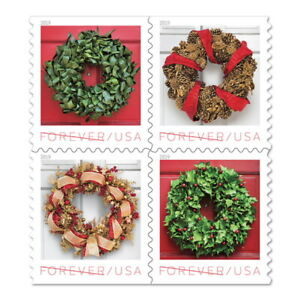 USPS New Holiday Wreaths Booklet of 20