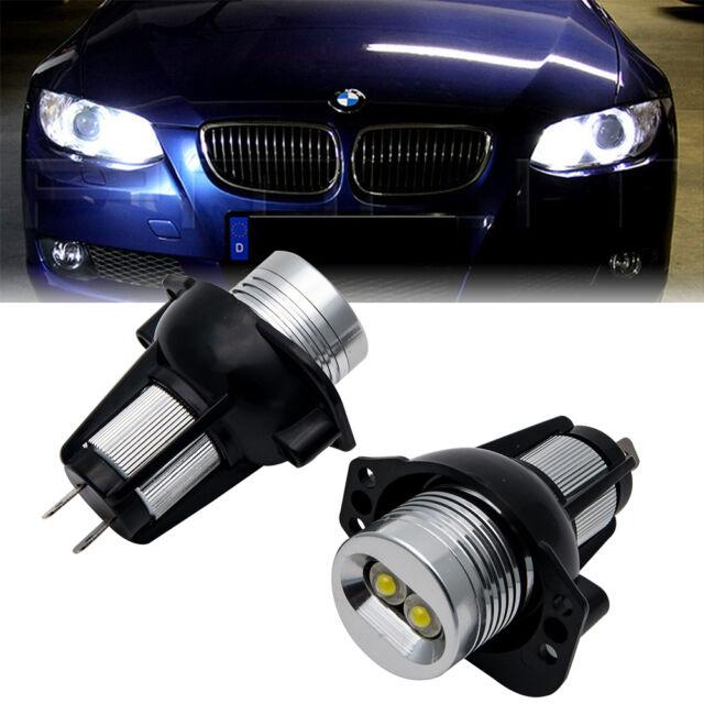 2x BMW E90 E91 3 Series Angel Eye Halo Ring LED Light 6W Marker Bulb Xenon