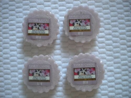 4 Wrapped Yankee Candle Wax Tarts for melting BEACH FLOWERS