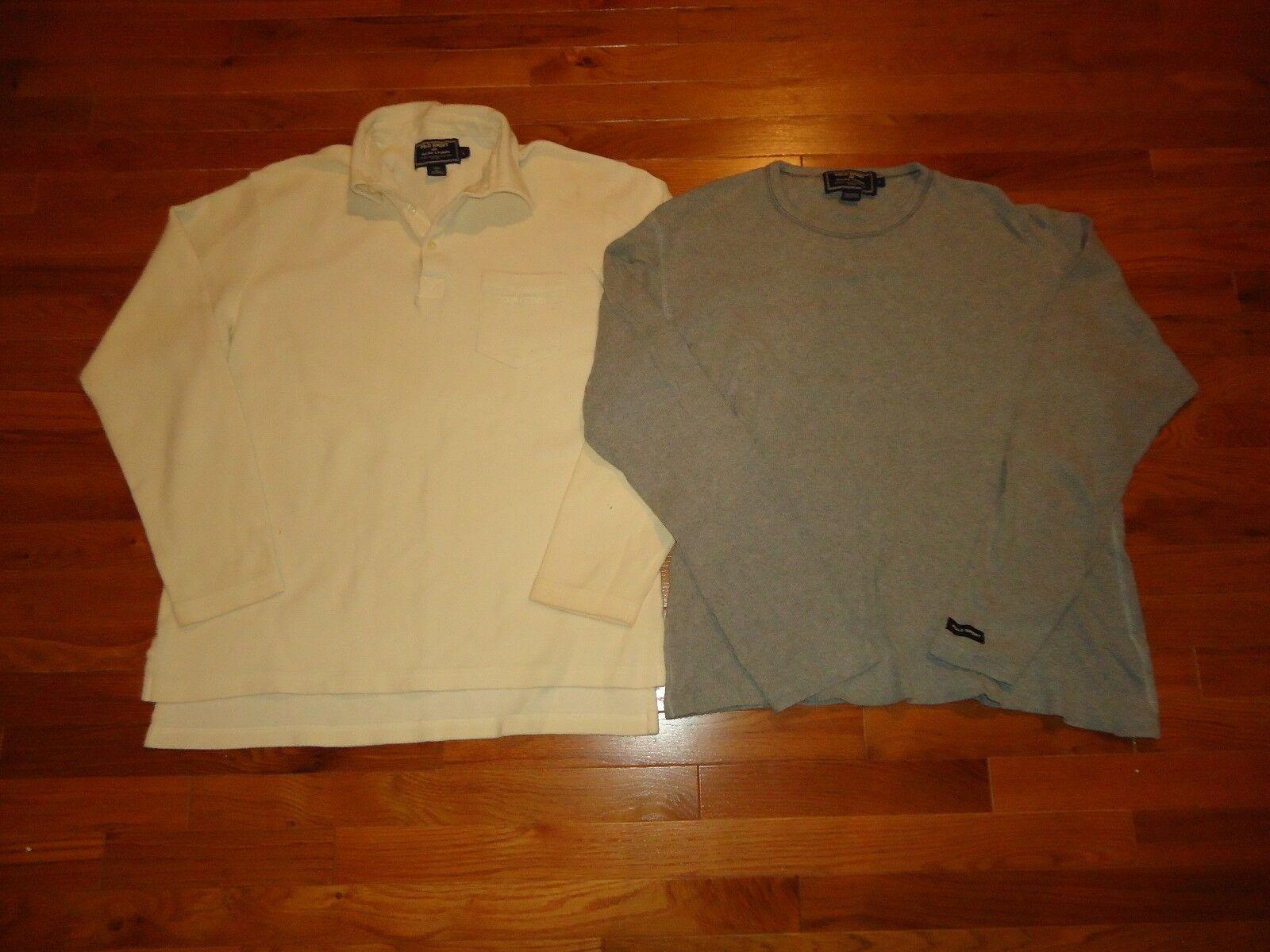 Lot de 2 Vintage Polo Ralph Lauren Sport chemises taille XXL 1 à hommeches longues Polo & 1 Thermique 92 93